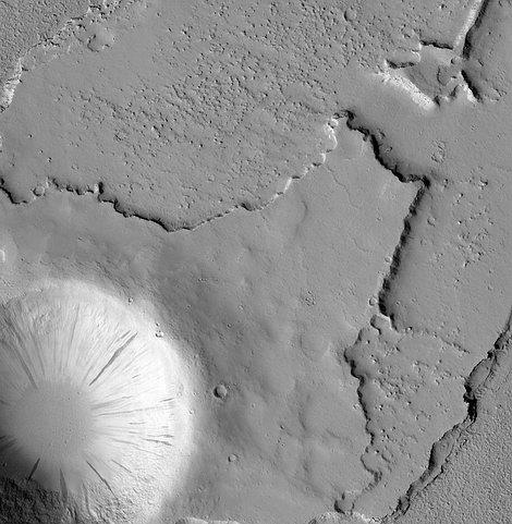 Поверхность Марса с высоты